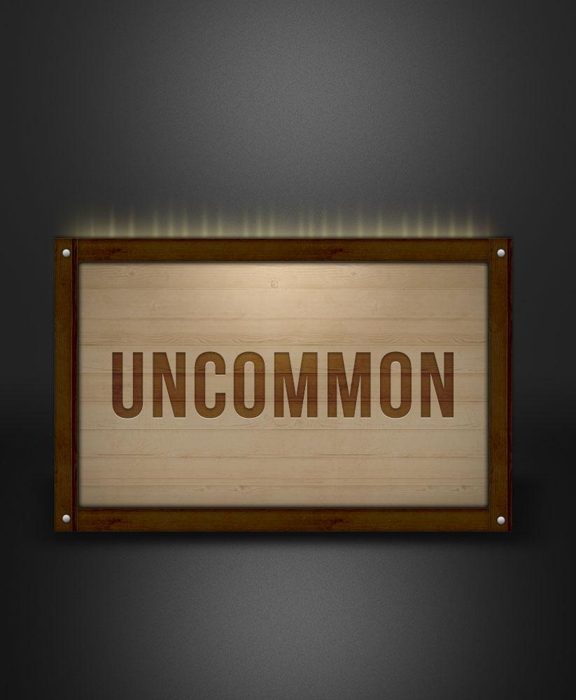 Uncommon rarity