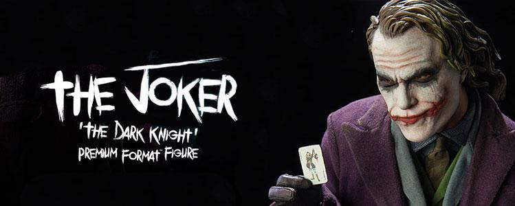 joker dark knight premium figure