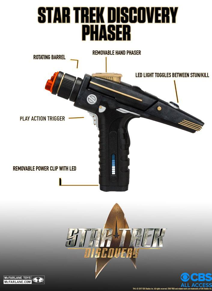 Картинки по запросу Star Trek Prop Replicas - 1/1 Scale Star Trek Discovery Phaser