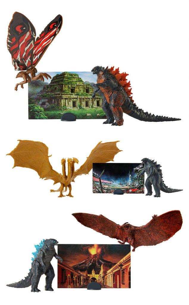 Godzilla /& Mothra Jakks 9cm Action Figures Toys Play Set BRAND NEW In STOCK