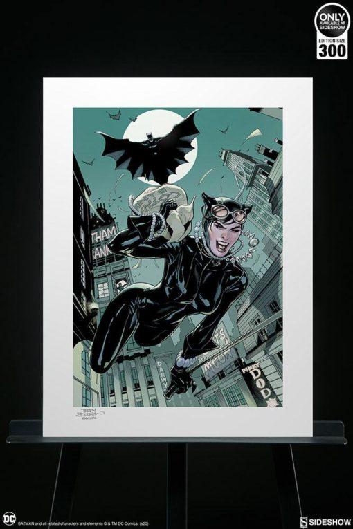 DC Comics Art Print The Getaway: Batman & Catwoman 46 x 61 cm – unframed