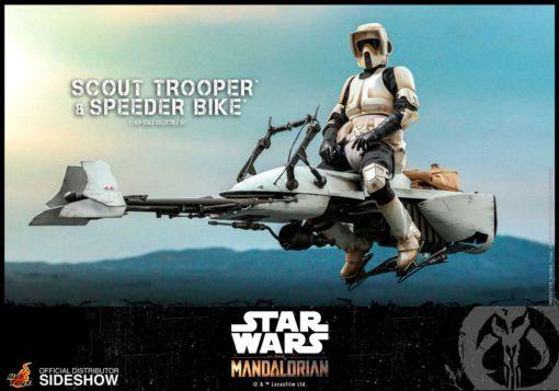 Star Wars The Mandalorian Action Figure 1/6 Scout Trooper & Speeder Bike 30 cm