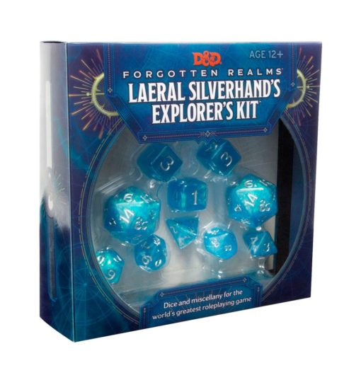 Dungeons & Dragons Forgotten Realms: Laeral Silverhand's Explorer's Kit – Dice & Miscellany english