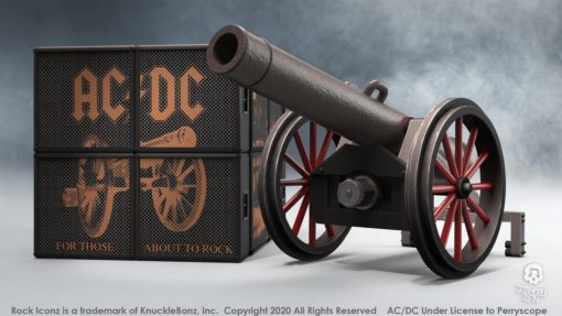 """AC/DC Rock Ikonz On Tour Statues Cannon """"For Those About to Rock"""""""