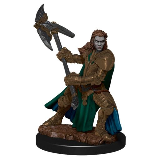 D&D Icons of the Realms Premium Miniature pre-painted Half-Orc Fighter Female Case (6)