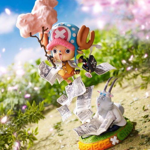 One Piece Special Collaboration PVC Statue Tony Tony Chopper Challenge from GReeeeN 20 cm