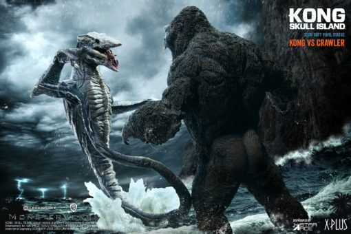 Kong Skull Island Deform Real Series Statues Kong vs Skull Crawler Normal Version 32 cm
