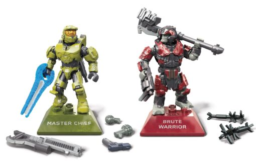 Halo Infinite Mega Construx Pro Builders Construction Set Master Chief vs. Brute Warrior