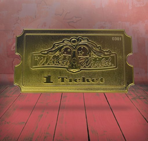 Fallout Replica Nuka World Ticket (gold plated)