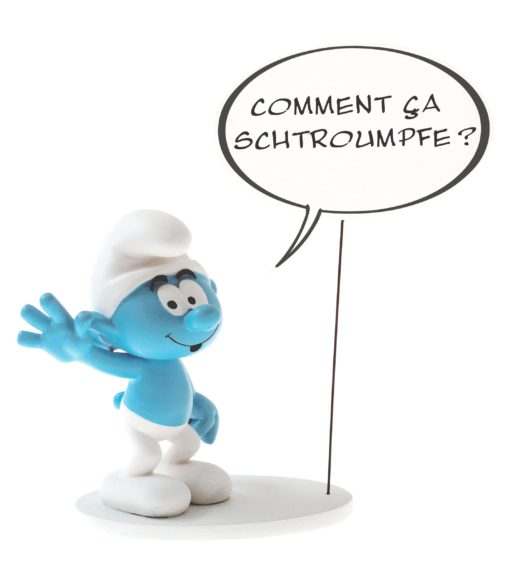 The Smurfs Collectoys Comics Speech Statue Smurf 22 cm *French Version*