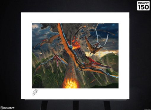 Original Artist Series Art Print Eruption by Vincent Hie 41 x 51 cm – unframed