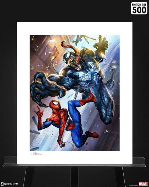 Marvel Art Print Spider-Man vs Venom 46 x 61 cm – unframed