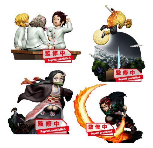 Demon Slayer: Kimetsu no Yaiba Petitrama Series Trading Figure 8 cm Vol. 1 Assortment (4)