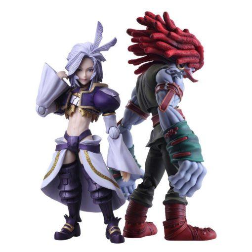 Final Fantasy IX Bring Arts Action Figures Kuja & Amarant Coral 16 – 18 cm