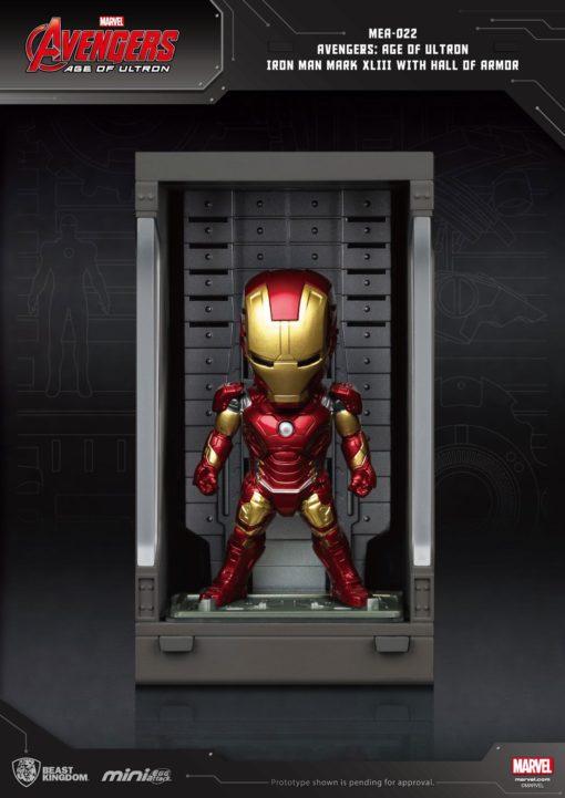Avengers Age of Ultron Mini Egg Attack Action Figure Hall of Armor Iron Man Mark XLIII 8 cm