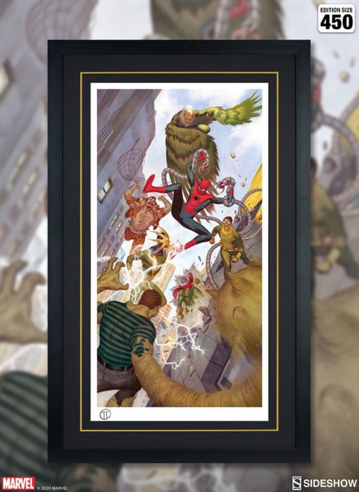 Marvel Art Print Spider-Man vs Sinister Six 43 x 74 cm – unframed