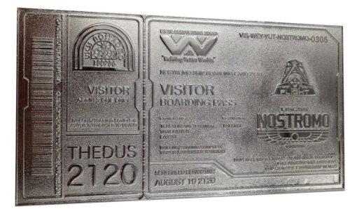 Alien Replica Nostromo Ticket Limited Edition (silver plated)