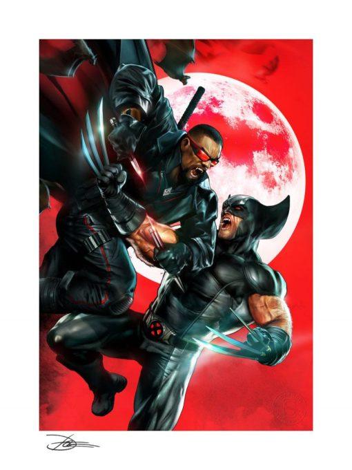 Marvel Art Print Wolverine vs Blade 46 x 61 cm – unframed