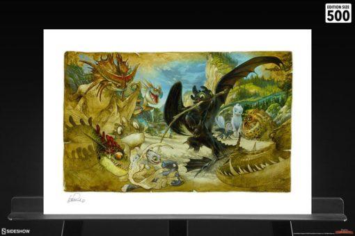 How to Train Your Dragon Art Print Ecto-1 46 x 61 cm – unframed