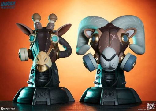 Unruly Designer Series Busts Ram and Giraffe Guerilla Squadron Set by Freehand Profit 23 cm