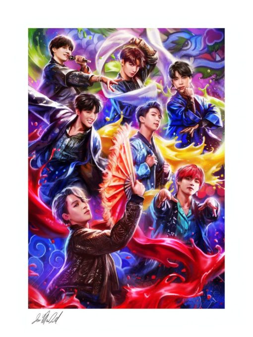 BTS Fine Art Print Idol by Ian MacDonald 46 x 61 cm – unframed