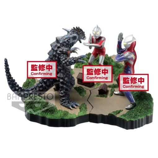 Ultraman Tiga Special Effects Stagement #49 The Ultra Star PVC Statue Ultraman Tiga Multi Type 6 cm
