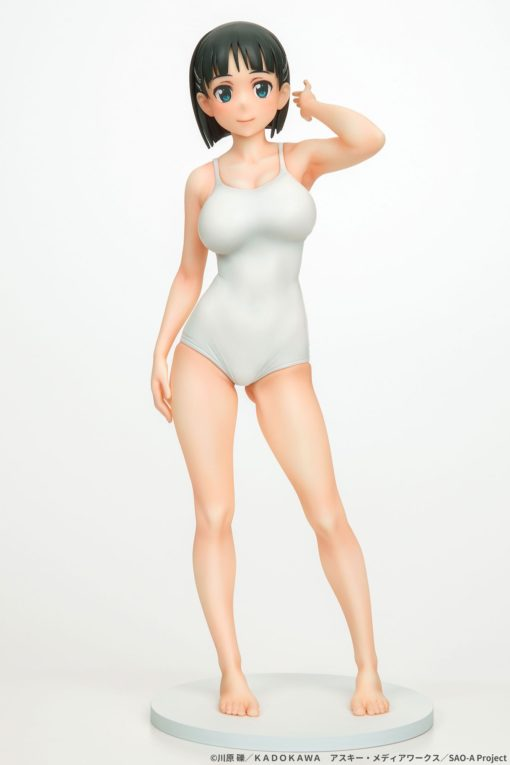 Sword Art Online PVC Statue 1/7 Suguha Kirigaya Leafa White Swimsuit Ver. 23 cm