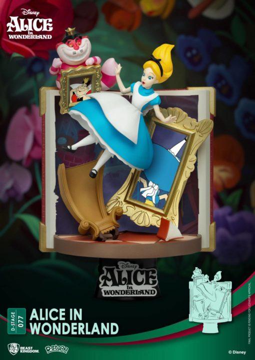 Disney Story Book Series D-Stage PVC Diorama Alice in Wonderland New Version 15 cm