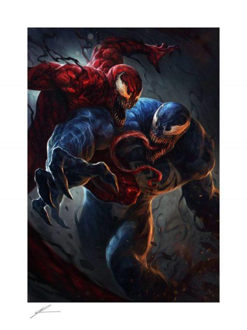 Marvel Art Print Venom vs Carnage 46 x 61 cm – unframed
