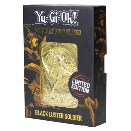 Yu-Gi-Oh! Replica Card Black Luster Soldier (gold plated)