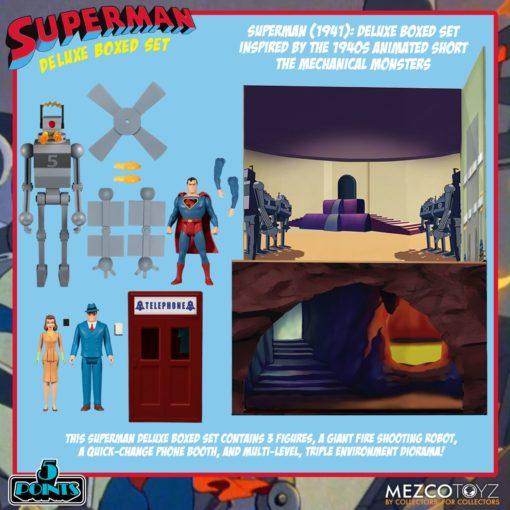 Superman The Mechanical Monsters (1941) 5 Points Action Figures Deluxe Box Set 10 cm