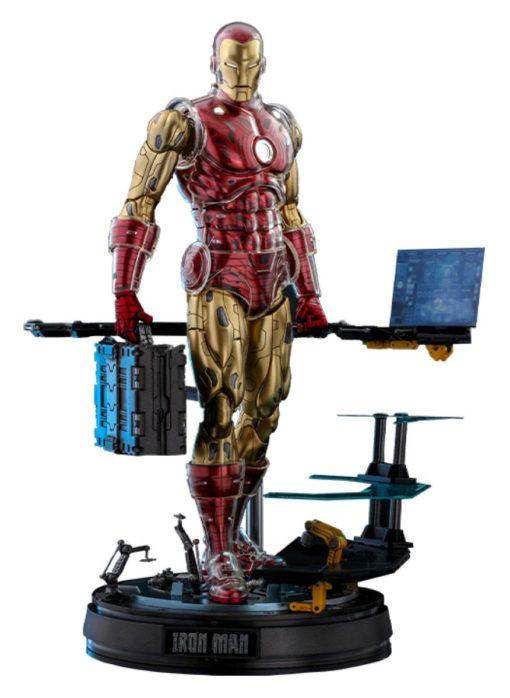 Marvel The Origins Collection Comic Masterpiece Action Figure 1/6 Iron Man Deluxe Version 33 cm