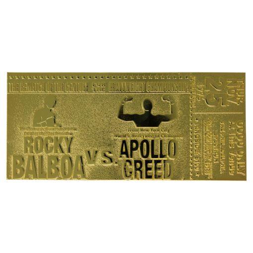 Rocky II Replica Superfight II Ticket (gold plated)