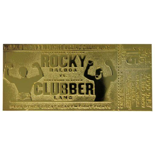 Rocky III Replica World Heavyweight Boxing Championship Ticket (gold plated)