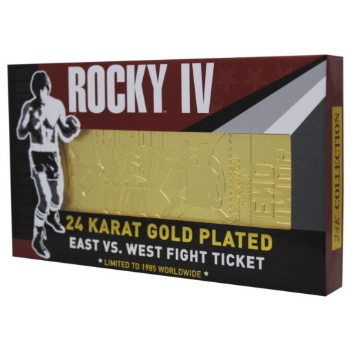 Rocky IV Replica East vs. West Fight Ticket (gold plated)