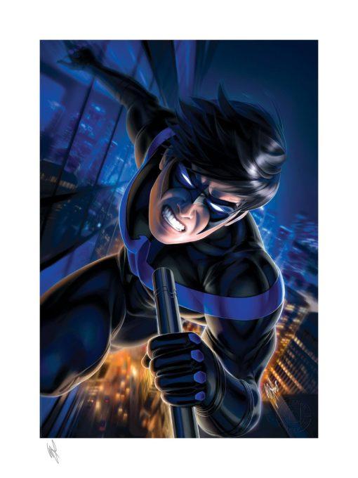 DC Comics Art Print Nightwing 46 x 61 cm – unframed