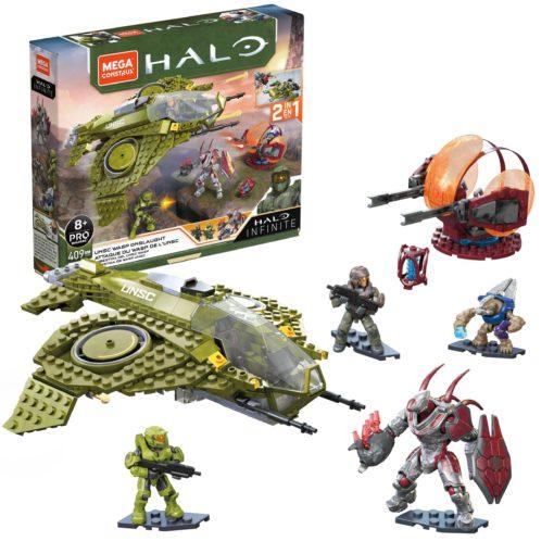Halo Mega Construx Pro Builders Construction Set UNSC Wasp Onslaught