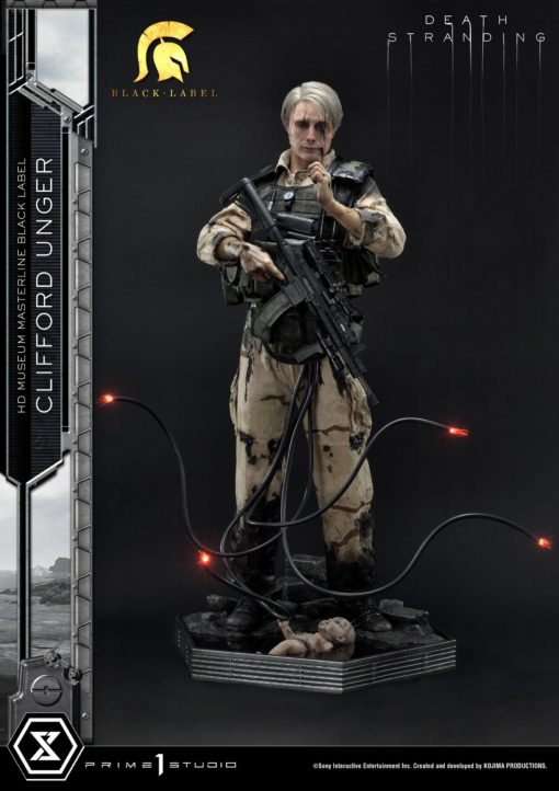 Death Stranding Statue 1/2 Clifford Unger Black Label 103 cm