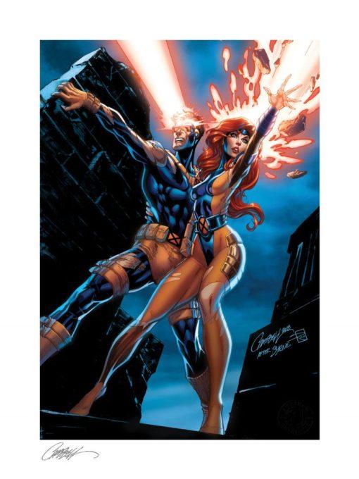 Marvel Comics Art Print Uncanny X-Men: Cyclops and Jean Grey 46 x 61 cm – unframed