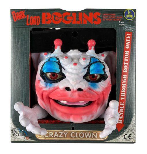 Boglins Hand Puppet Dark Lord Crazy Clown  (Glow In The Dark)