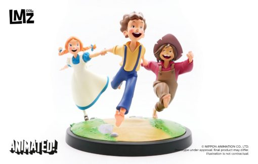 The Adventures of Tom Sawyer Animated! Statue Tom, Huck & Becky 23 cm