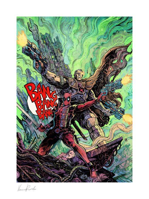 Marvel Art Print Deadpool & Cable 46 x 61 cm – unframed