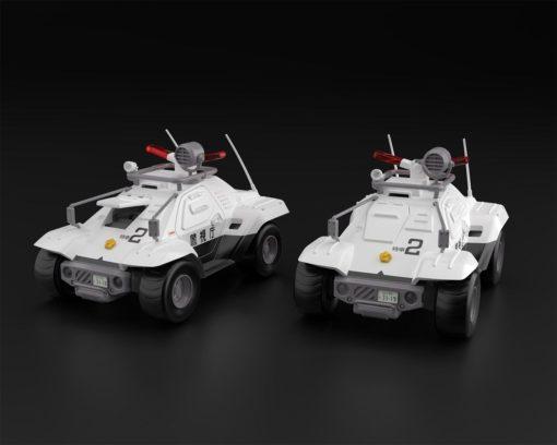Mobile Police Patlabor Plastic Model Kits 1/43 2-Pack Type 98 Command Vehicle 4 cm