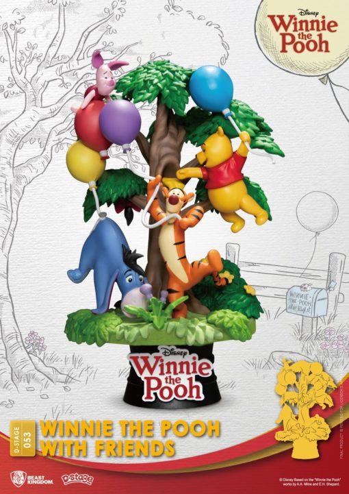 Disney D-Stage PVC Diorama Winnie The Pooh With Friends 16 cm