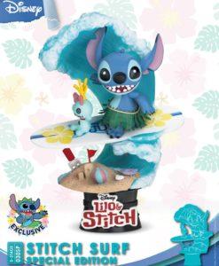 Disney Summer Series D-Stage PVC Diorama Stitch Surf Special Edition 15 cm