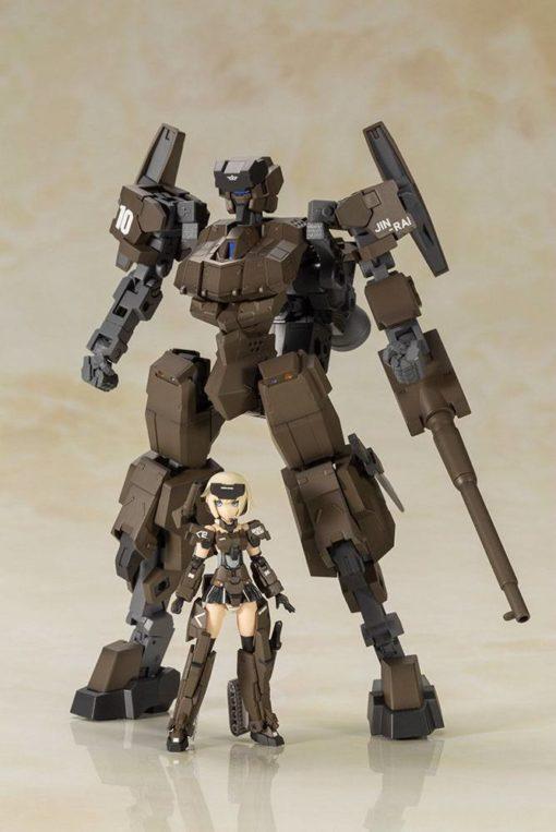 Frame Arms Girl Plastic Model Kit Handscale Gourai with Jinrai Armor 17 cm