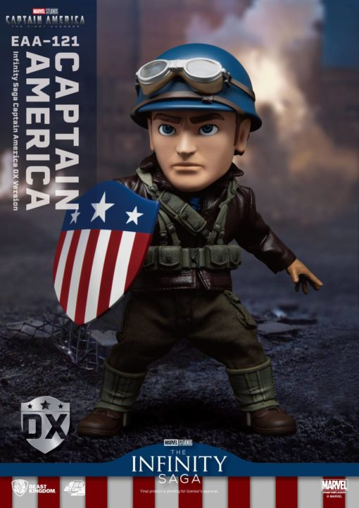 Captain America: The First Avenger Egg Attack Action Action Figure Captain America DX Version 17 cm