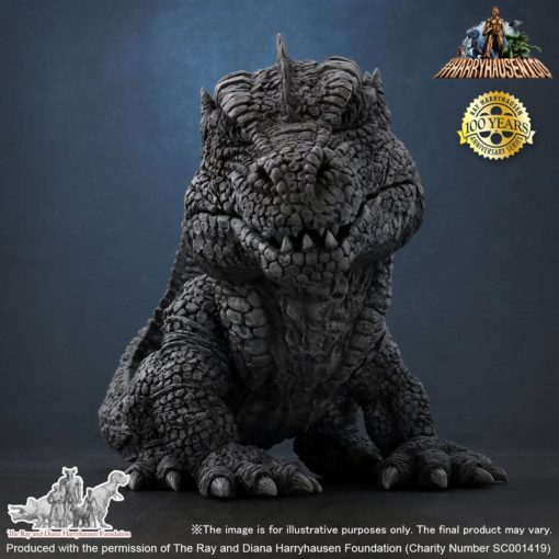 The Beast from 20,000 Fathoms Defo-Real Statue Ray Harryhausens Rhedosaurus B&W 15 cm