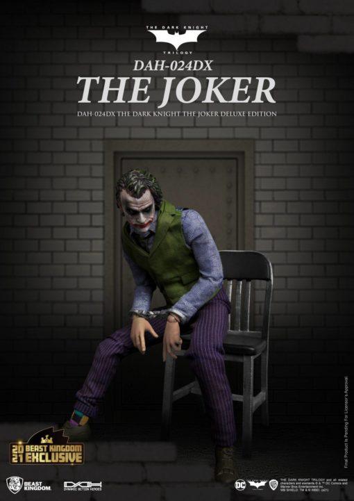 Batman The Dark Knight Dynamic 8ction Heroes Action Figure 1/9 The Joker Deluxe Version 21 cm