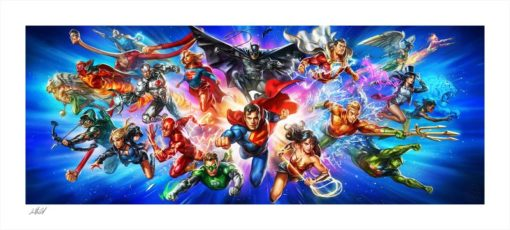 DC Comics Art Print Justice League: The World's Greatest Super Heroes 46 x 102 cm – unframed